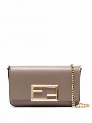 Коричневая сумка на плечо Fendi