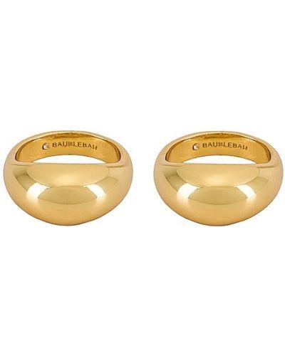 Złoty pierścionek pozłacany Baublebar