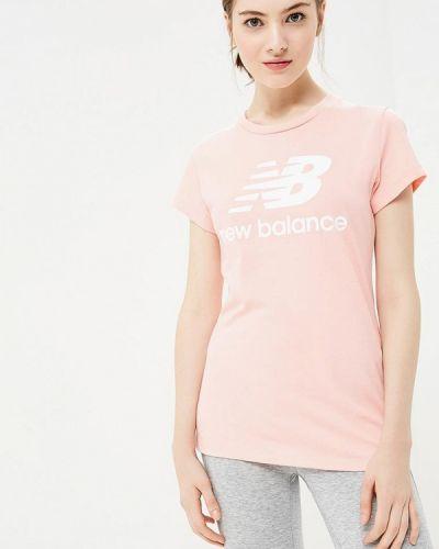 Розовая футболка 2019 New Balance