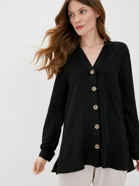Черная блузка с длинным рукавом Wallis