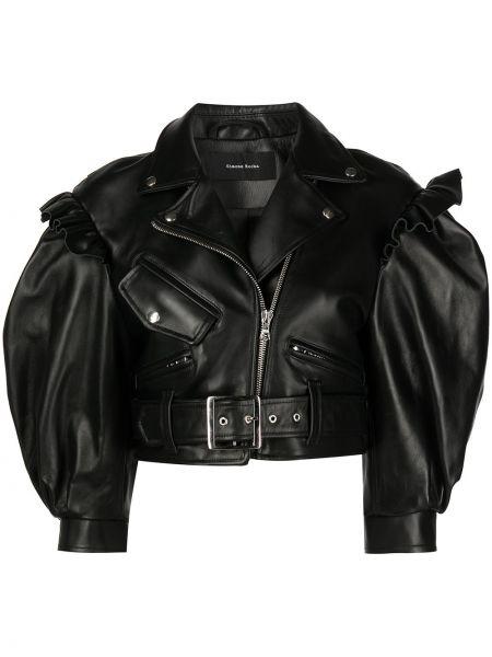 Черная куртка байкерская Simone Rocha