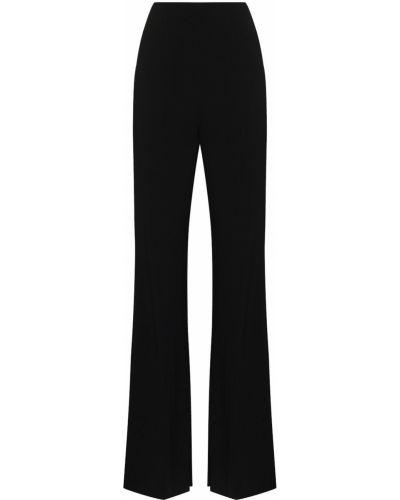 Czarne spodnie z wysokim stanem z wiskozy rozkloszowane Roland Mouret