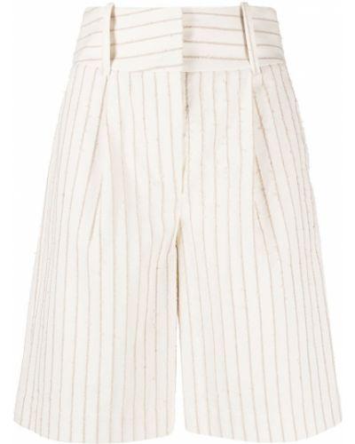 Хлопковые белые шорты с поясом Federica Tosi