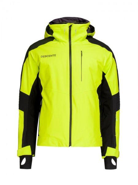 Куртка горнолыжная с капюшоном - желтая Descente