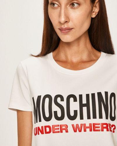 Koszula długo biała Moschino Underwear