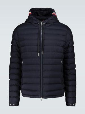 Пуховая синяя куртка с капюшоном Moncler