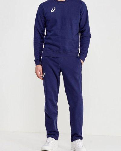 Костюмный синий спортивный костюм Asics