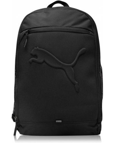 Czarny plecak na laptopa szkolny z siateczką Puma