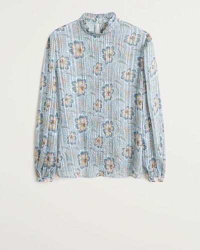 Блузка с воротником-стойкой с поясом Mango