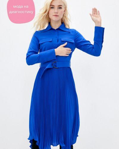Синее прямое платье Cavo
