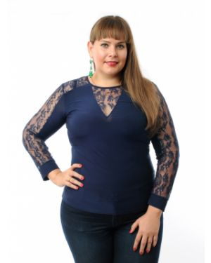Блузка гипюровая с кокеткой Dream World