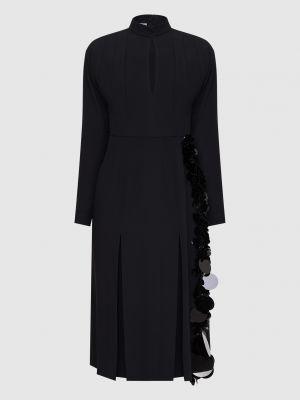 Черное платье миди Prada
