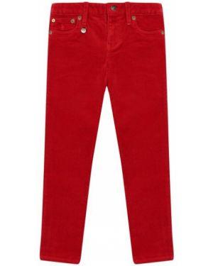 Зауженные красные брюки вельветовые Polo Ralph Lauren