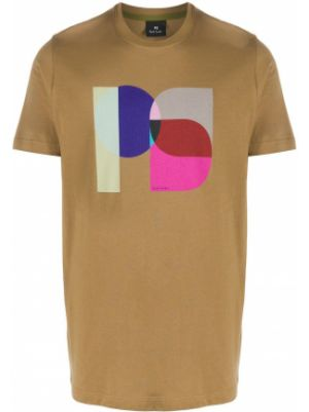 Koszula krótkie z krótkim rękawem z nadrukiem z logo Ps Paul Smith