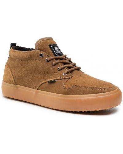 Sneakersy - brązowe Element