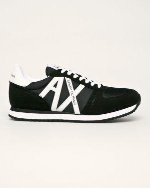 Черные текстильные кроссовки Armani Exchange