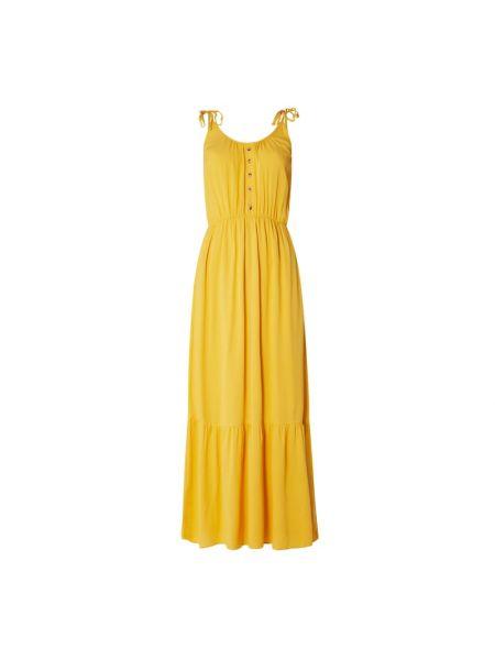 Złota sukienka rozkloszowana Catwalk Junkie