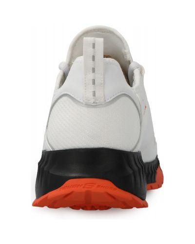Кожаные кроссовки с перфорацией на шнуровке Skechers