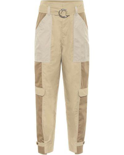 Ватные хлопковые коричневые брюки карго Frame
