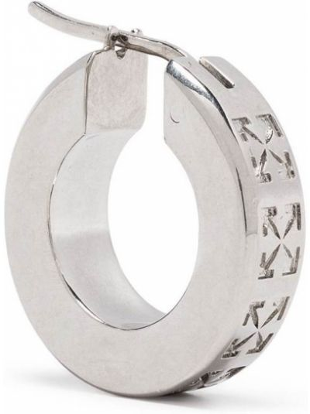 Белые серебряные серьги Off-white