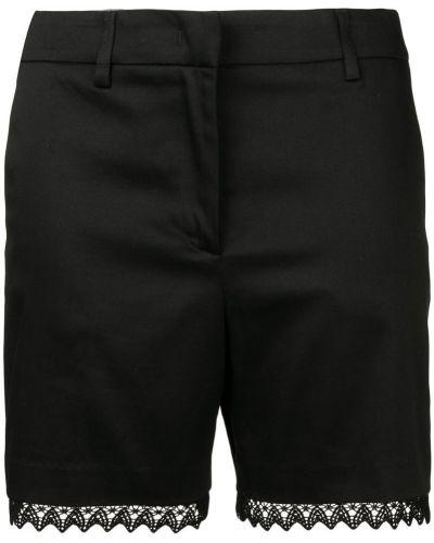 Однобортные черные шорты с карманами Blumarine