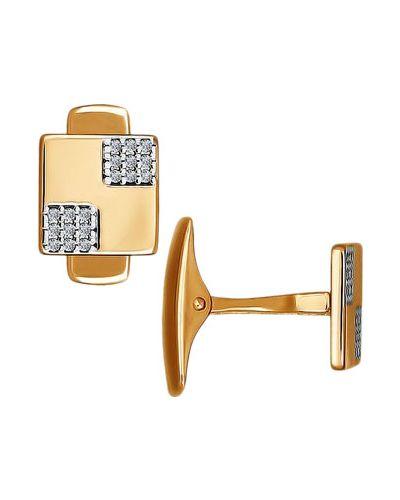 Запонки из золота золотой Sokolov