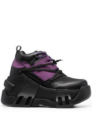 Czarne sneakersy na platformie Swear