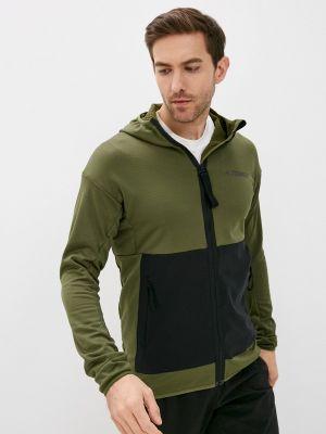 Зеленая толстовка Adidas