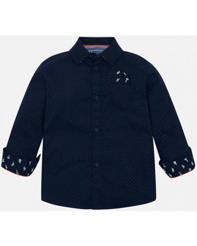 Рубашка с узором темно-синий Mayoral