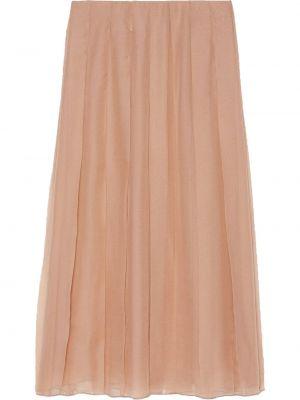 С завышенной талией шифоновая плиссированная юбка миди Gucci