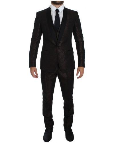 Czarny garnitur na lato Dolce And Gabbana