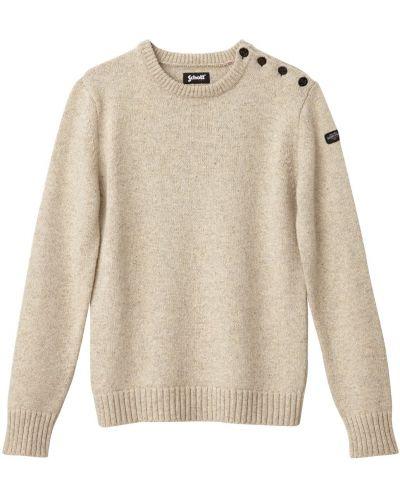 Пуловер крупной вязки трикотажный Schott