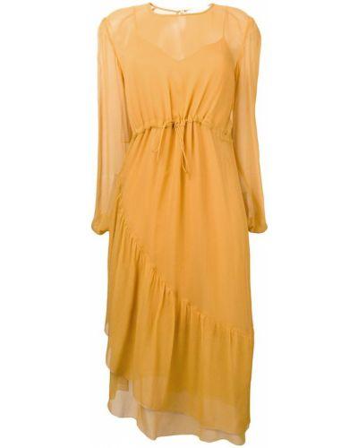 Платье миди с вырезом с длинными рукавами See By Chloé