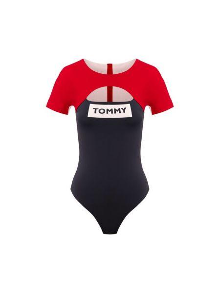 Слитный купальник спортивный с вырезом Tommy Hilfiger