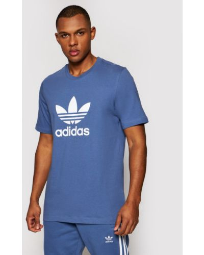 Niebieska t-shirt Adidas Originals