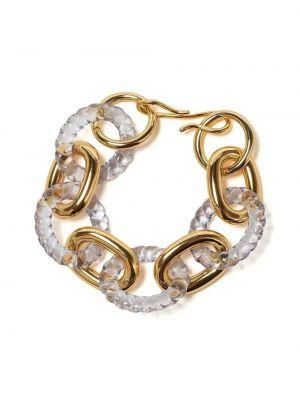 Акриловый золотой браслет золотой позолоченный Lizzie Fortunato Jewels