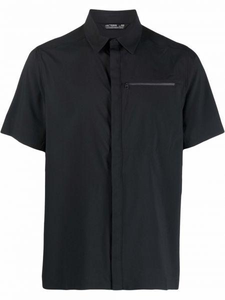Klasyczna czarna koszula krótki rękaw Arcteryx