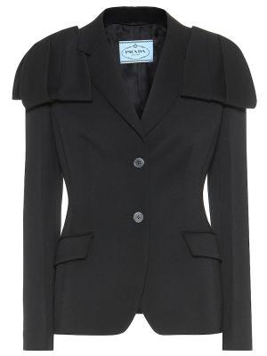 Шерстяная куртка - черная Prada