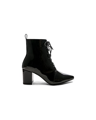 Ботинки на каблуке черные на шнуровке Raye