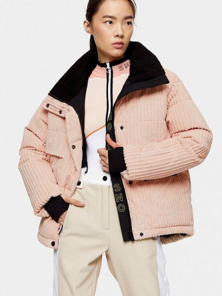 Горнолыжная куртка весенняя розовая Topshop