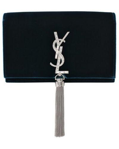 Синяя сумка вечерняя Saint Laurent