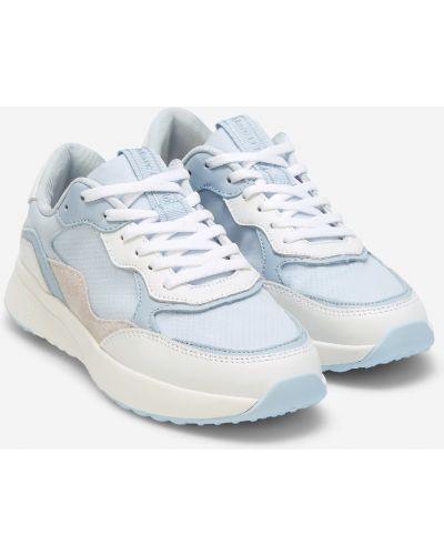Облегченные повседневные кожаные кроссовки со вставками на шнурках Marc O`polo