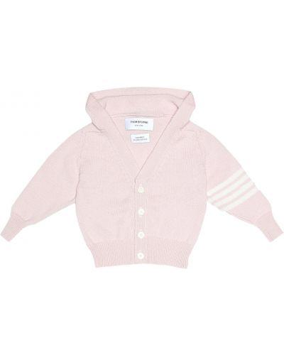 Розовый кардиган Thom Browne Kids