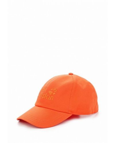 Бейсболка кожаная оранжевый Jack Wolfskin