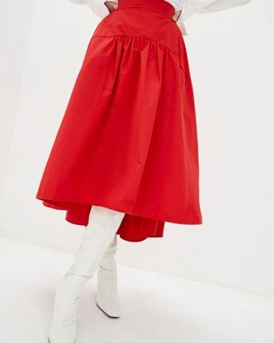 Красная юбка свободного кроя Miss Sixty
