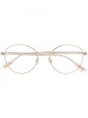 Прямые серебряные очки для зрения круглые металлические Jimmy Choo Eyewear