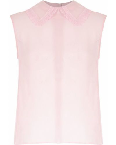 Блузка без рукавов розовая классическая Andrea Bogosian