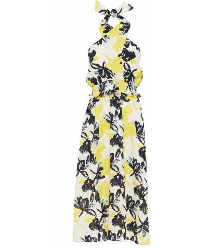 Żółta sukienka midi bawełniana Walter Baker