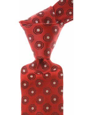 Czerwony krawat z jedwabiu Isaia