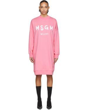 Платье макси розовое платье-майка Msgm